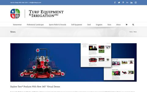 Screenshot of Press Page turfequip.com - News Archives - Turf Equip - captured Nov. 12, 2017