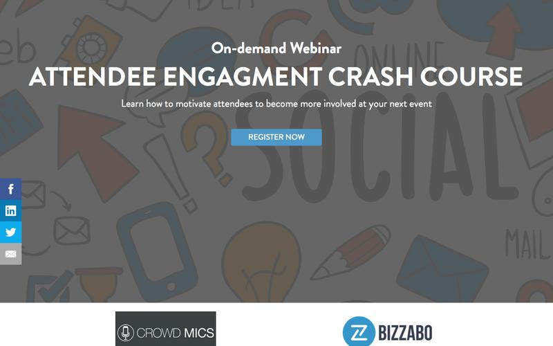 Webinar: The Event Planners Attendee Engagement Crash Course | Bizzabo