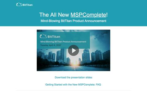 MSPComplete Launch Resources