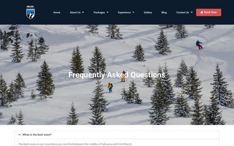 Screenshot of FAQ Page heliskiromania.com - FAQ – HELISKI ROMANIA - captured Nov. 25, 2018