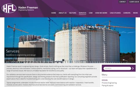 Screenshot of Services Page hadenfreeman.com - Haden Freeman » Services - captured Nov. 25, 2016
