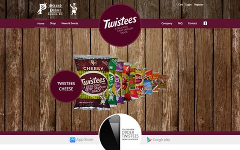 Screenshot of Home Page twistees.com.mt - Twistees | A Delicious Cripsy Savoury Snack - captured Sept. 29, 2015