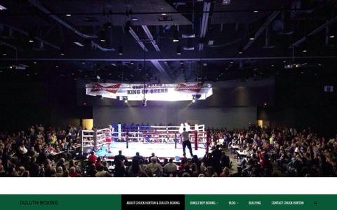 Screenshot of Home Page duluthboxing.com - Duluth Boxing | Chuck Horton - captured Oct. 12, 2015