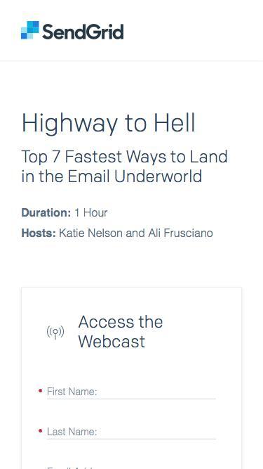 SendGrid  - Highway to Hell