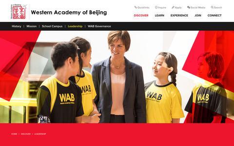 Screenshot of Team Page wab.edu - Private International School Western Academy of Beijing   Private International School - captured Oct. 18, 2018