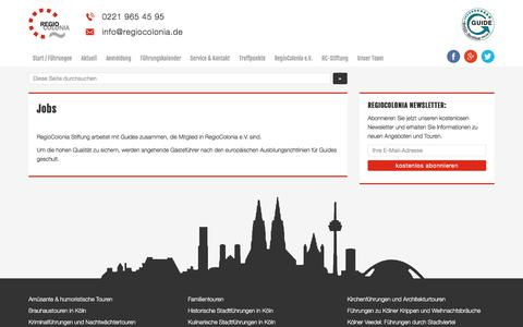 Screenshot of Jobs Page regiocolonia.de - Jobs | Stellenanzeigen | RegioColonia - captured June 8, 2018