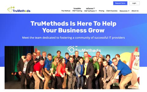 Screenshot of About Page trumethods.com - Who We Are | TruMethods - captured Jan. 21, 2019