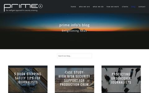 Screenshot of Blog primeinfo.co.uk - Prime Blog - Keep up to date with our news and views. Case Studies and Experiences - captured Sept. 29, 2018
