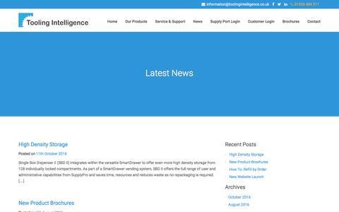 Screenshot of Press Page toolingintelligence.co.uk - News - Tooling Intelligence - captured Dec. 2, 2016