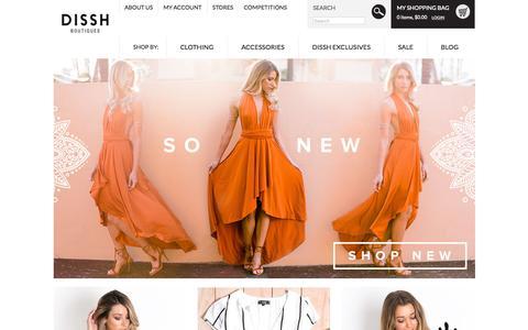 Screenshot of Home Page dissh.com.au - Shop Dissh Boutiques l THE Online Shopping Destination - captured Oct. 8, 2015