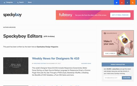 Speckyboy Editors, Author at Speckyboy Web Design Magazine