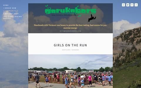 Screenshot of Blog garukabars.com - Garuka Blog — Garuka Bars - captured May 11, 2017