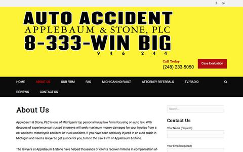 Screenshot of About Page applebaumstone.com - About Us - Applebaum and Stone, PLC - captured Sept. 25, 2018
