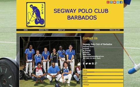 Screenshot of Contact Page segwaypoloclubbarbados.org - Contact Us - captured Feb. 27, 2017