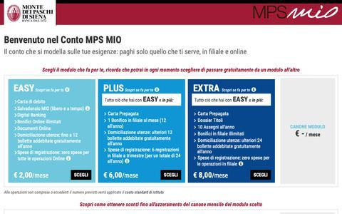 Screenshot of Login Page mps.it - Conto MPS MIO | Banca Monte dei Paschi di Siena - captured June 9, 2019
