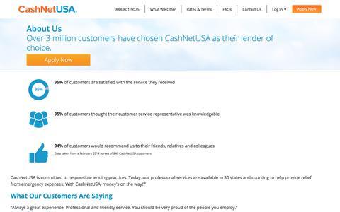 About Us | CashNetUSA