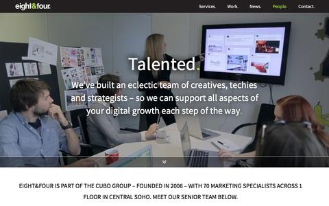 Screenshot of Team Page eightandfour.com - Digital Marketing Agency | eight&four - captured Feb. 2, 2016