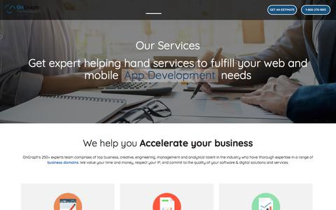 Screenshot of Services Page ongraph.com - Services | Mobile & Web App Development Services in India - captured July 21, 2019
