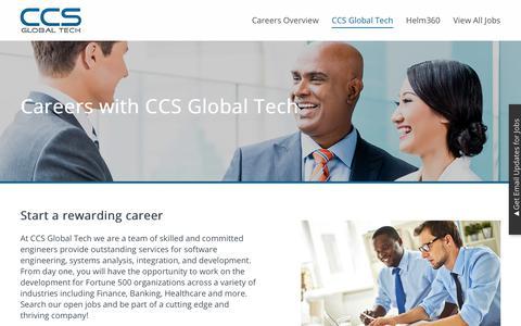 Screenshot of Jobs Page ccsglobaltech.com - CCS Global Tech   California Creative Solutions - captured July 4, 2018