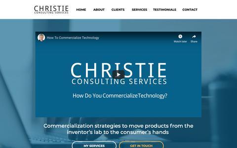 Screenshot of Home Page christieconsultingservices.com - Christie Consulting Services   Home - captured Nov. 27, 2018