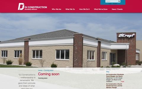Screenshot of Login Page djconstruction.com - Coming soon - DJ Construction : DJ Construction - captured Oct. 5, 2014