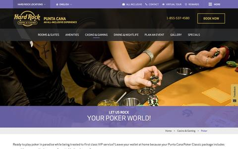 Poker Games and Tournaments at Hard Rock Casino Punta Cana, Dominican Republic