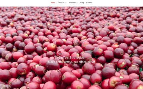 Screenshot of Home Page coffeestrategies.com - Coffee industry consultants, market and value chain specialists - captured July 11, 2017