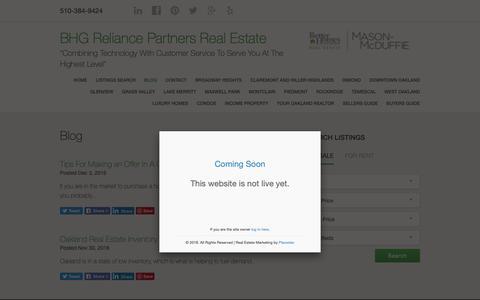 Screenshot of Blog oaklandhomespecialist.com - Blog - BHG Mason McDuffie Real Estate - captured Sept. 30, 2018