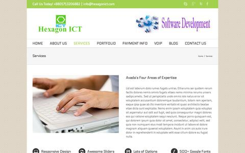 Screenshot of Services Page hexagonict.com - Hexagon ICT Services - Hexagon ICT - captured Sept. 30, 2014