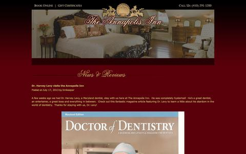 Screenshot of Blog annapolisinn.com - The Annapolis Inn | Just another WordPress siteThe Annapolis Inn | Just another WordPress site - captured Oct. 7, 2014