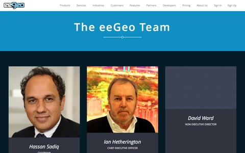 Screenshot of Team Page eegeo.com - eeGeo | Team | - captured May 9, 2017