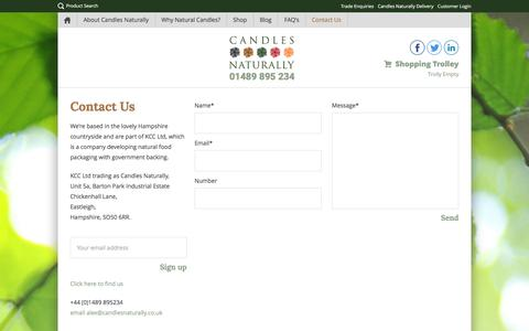 Screenshot of Contact Page candlesnaturally.co.uk - Contact Us - Candles Naturally : Candles Naturally - captured Dec. 7, 2015