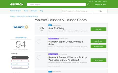 $35 Off Walmart Coupons, Promo Codes & Deals, December 2017 - Groupon | Groupon
