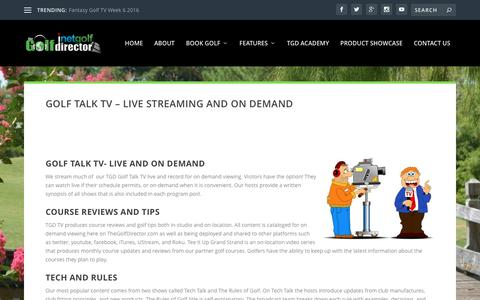 Golf Talk TV – Live Streaming and On Demand | TheGolfDirector.com