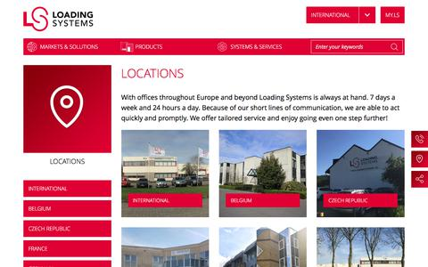 Screenshot of Locations Page loading-systems.com - Locations | Loading Systems - captured Aug. 25, 2017