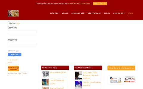 Screenshot of Login Page lionden.com - Member Login - captured Sept. 28, 2018