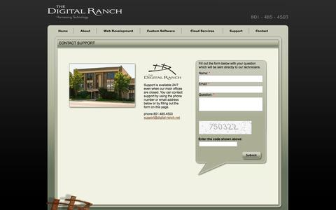 Screenshot of Support Page digital-ranch.com - The Digital Ranch - Contact Support - captured Nov. 5, 2014