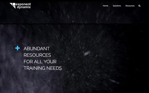 Screenshot of Case Studies Page exponentdx.com - Exponent Dynamix | Home | Exponent Dynamix - captured Jan. 6, 2018