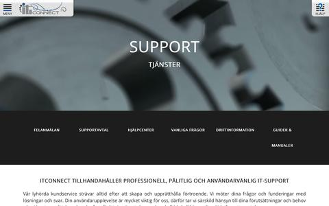 Screenshot of Support Page itconnect.se - Support - ITConnect - captured Oct. 2, 2018