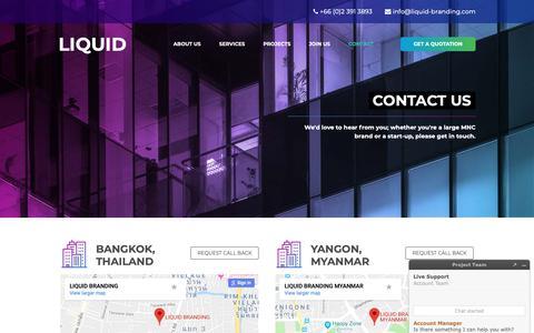 Screenshot of Contact Page liquid-branding.com - Contact LIQUID BRANDING – Branding and Communications Agency - captured Sept. 29, 2018