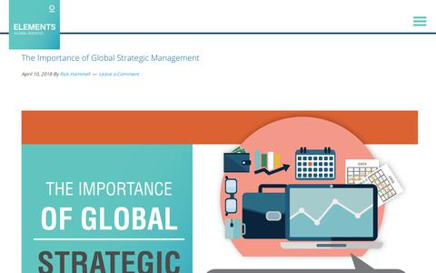 Screenshot of Team Page elementsgs.com - The Importance of Global Strategic Management - captured Jan. 20, 2020