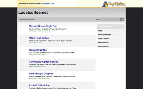 Screenshot of Login Page localcoffee.net - Contact Support - captured Oct. 1, 2014