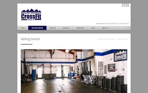 Screenshot of Services Page bouldermountaincrossfit.com - Getting Started | Boulder Mountain CrossFit - captured Sept. 30, 2014