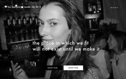 Screenshot of Home Page lesbenjamins.com - LES BENJAMINS - captured Feb. 12, 2016