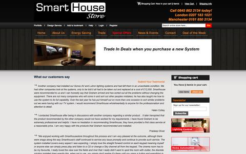 Screenshot of Testimonials Page smarthousestore.co.uk - Testimonial - captured Oct. 9, 2014
