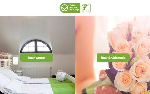 Screenshot of Home Page cbw-erkend.nl captured Jan. 26, 2015