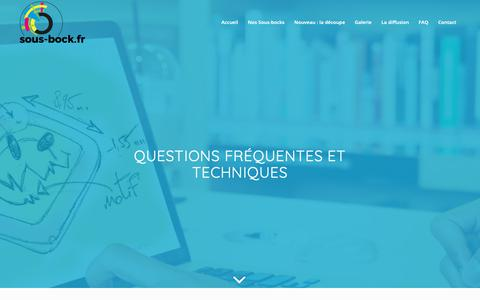 Screenshot of FAQ Page sous-bock.fr - FAQ - Sous Bock - Fabricant et distributeur de sous-bocks - captured Oct. 29, 2018
