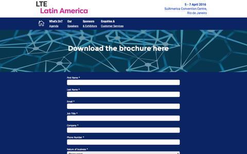 Screenshot of Landing Page knect365.com - LATIN AMERICA Brochure - captured July 29, 2016