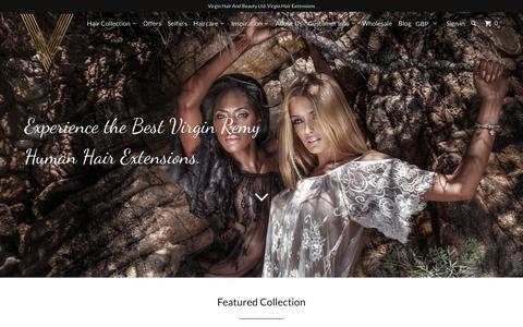 Screenshot of Home Page virginhairandbeauty.com - Best Virgin Hair Extensions, Remy Hair & Ombre Extensions Specialists. - captured Sept. 4, 2015