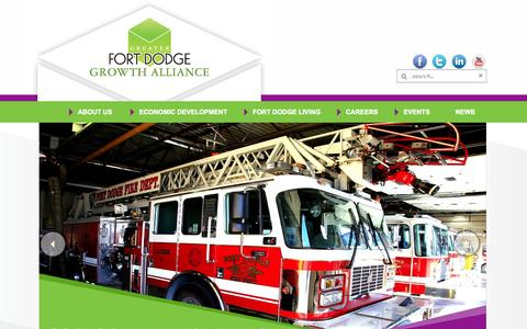 Screenshot of Home Page greaterfortdodge.com - GFD - captured Oct. 3, 2014